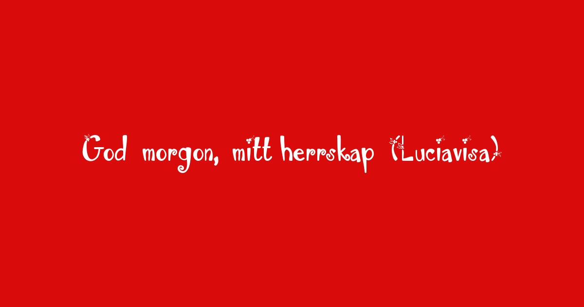 alice tegnér lyrics